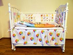 Бельё в детскую кроватку